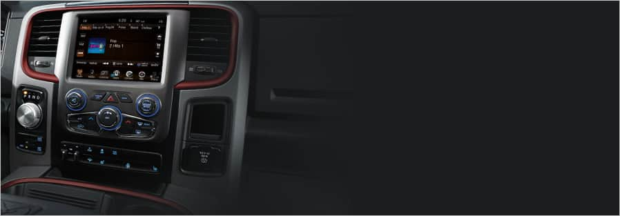 Ram 1500 Rebel center stack dashboard