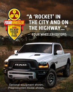 Ram 1500 Rebel Fourwheeler Award
