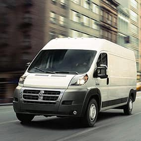 Ram Promaster exterior front view drivers side