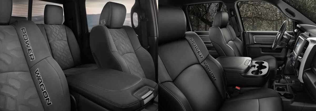 2017 Ram Power Wagon interior seat options