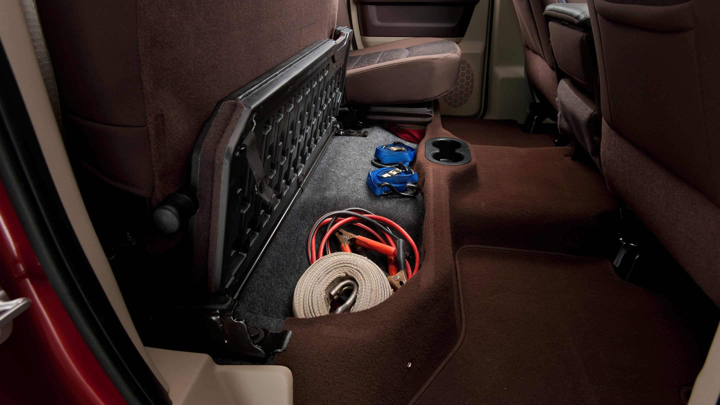 2018 Ram Trucks 3500 Under Rear Seat Storage