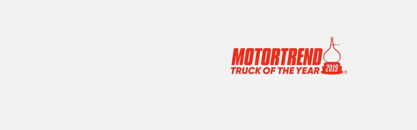 Motortrend 2019 Truck of the Year logo.