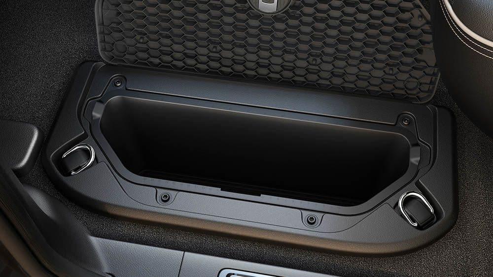 Storage compartment inside 2019 Ram 1500