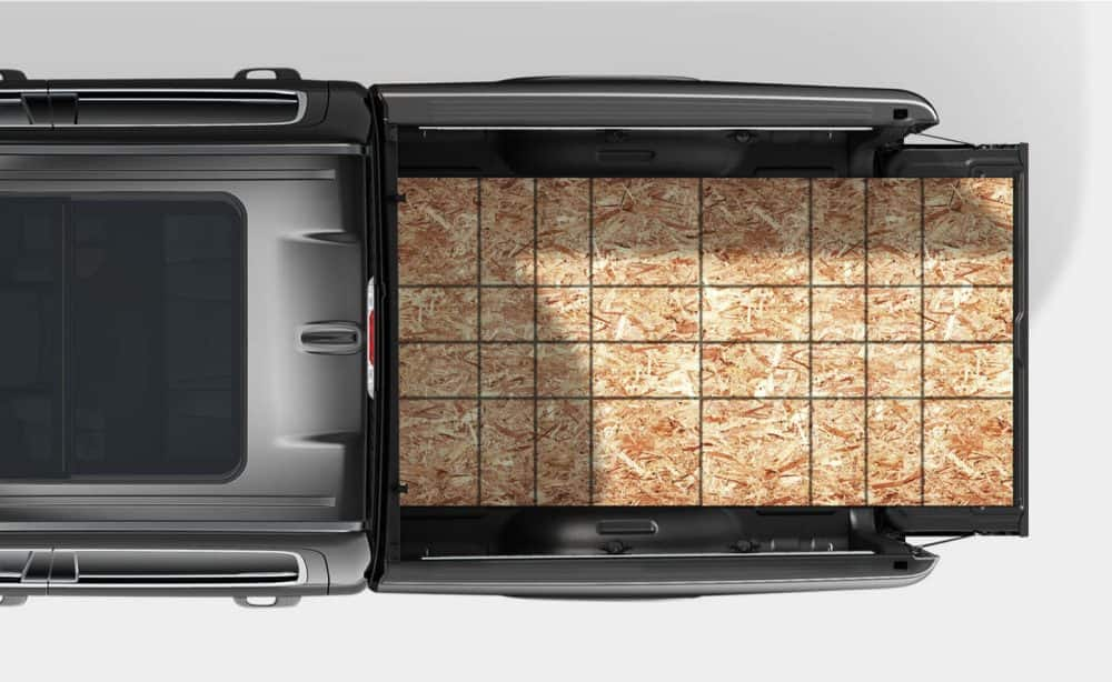 Overhead view of bed of 2019 Ram 1500
