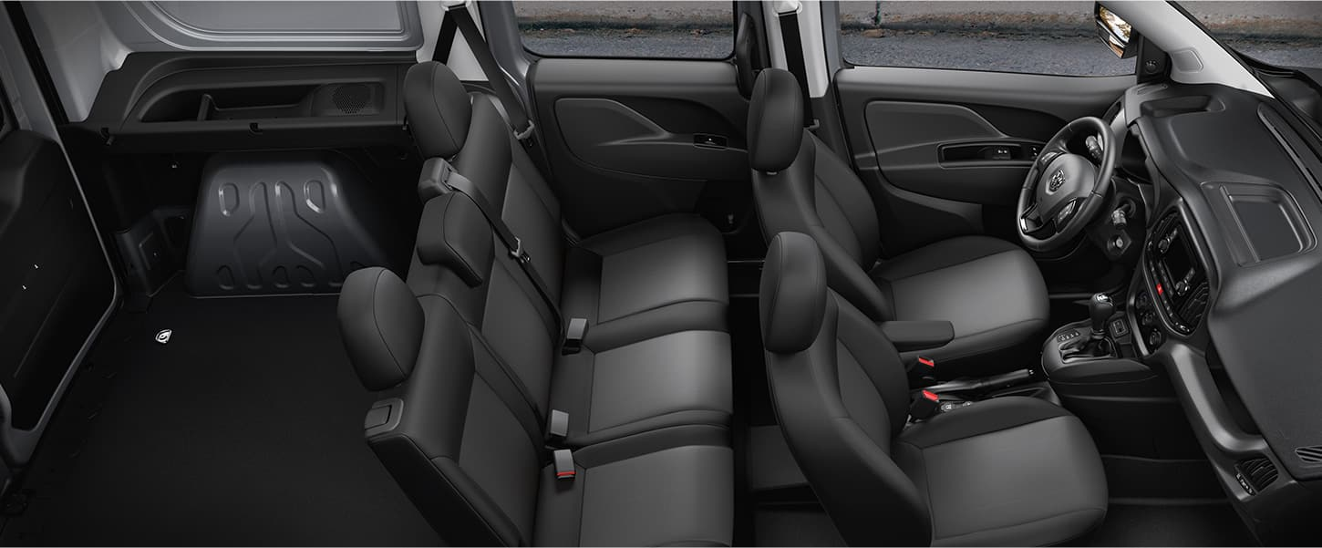 Overhead interior view of Ram ProMaster City Wagon.