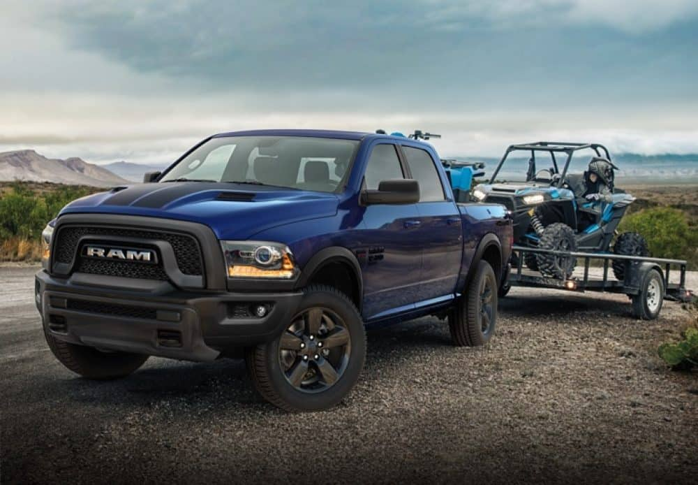 Ram 1500 Clic Warlock Towing An Atv On A Flatbed Trailer Properly Secure All Cargo