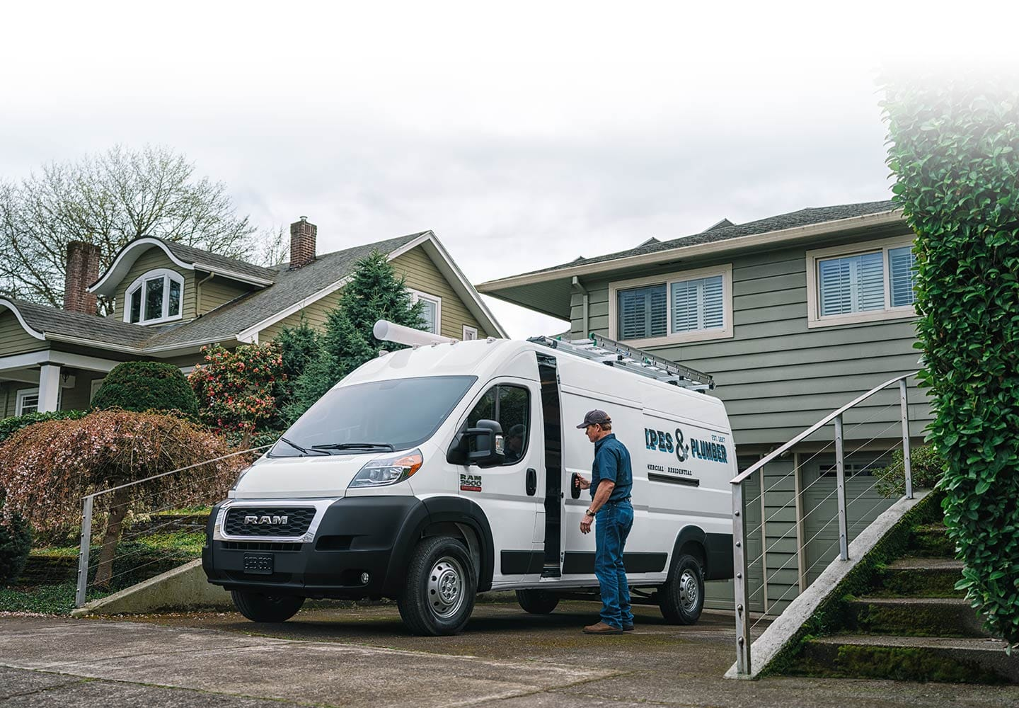 Ram ProMaster parked in a driveway.