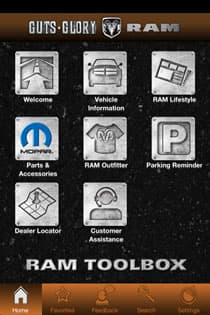 RAM TOOLBOX PARKING REMINDER FEATURES