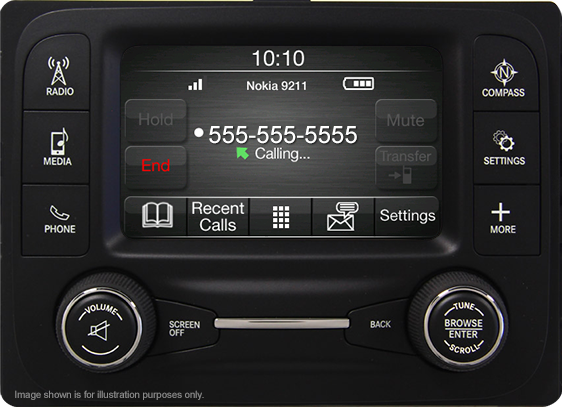 Uconnect® 5 –inch touchscreen display with hands-free calling
